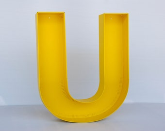 """marquee wall hanging letters - """"U"""" sign letter - wall decor letters / decorative metal letter """"U"""" / large marquee letter"""