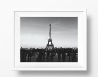 Eiffel Tower View from Palais de Chaillot Paris France Photography Print Poster
