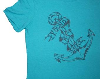 Found At Sea T-Shirt, Womens Next Level T, Anchor, Original Art, Screen Printed