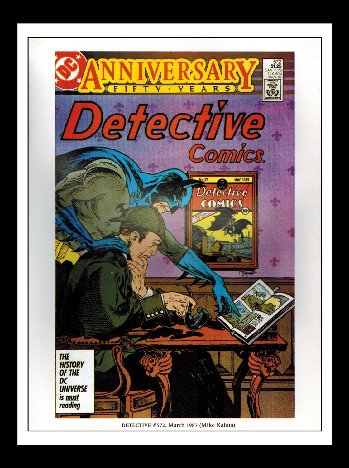 Classic Comic Book Cover Prints : Vintage print ad comic book cover batman detective comics