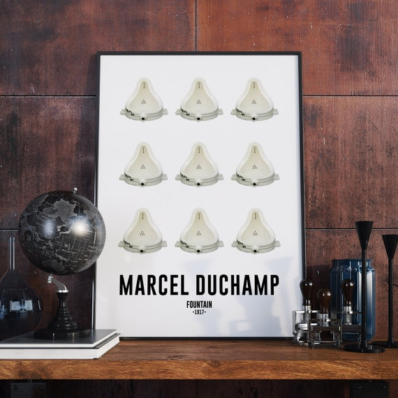 french decor marcel duchamp french poster by bittermoonstudio