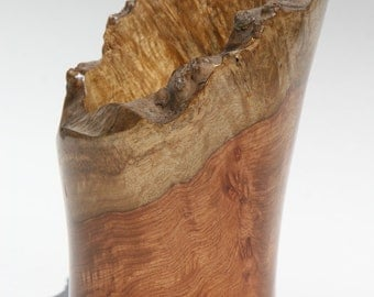 Natural Edge Amboyna Burl Vase  -  Item 1015