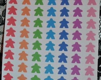 Meeple Stickers for Erin Condren Life Planner Plum Paper Planner Scrapbooking