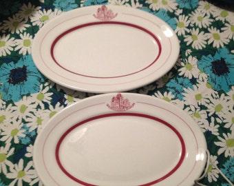 SALE Walker China University Club Oval Plates