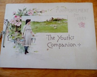 Youth's Companion 1889 Advertising Booklet - Illustrated