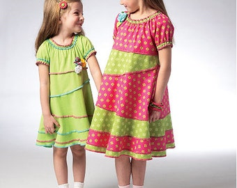 Kwik Sew sewing pattern K3944 Girl's Summer Dress, 2 Styles, Girl's, Children's - new and uncut