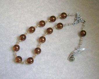 Calliope Pocket Prayer Beads: Greek Muse of Epic Poetry and Eloquence