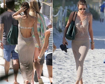 CROCHET Maxi Dress. Lace dress. Bohemian dress. Croche boho dress. Knit dress. Maxi dress. Beach dress. Cover up. Crochet swimsuit. Clothing