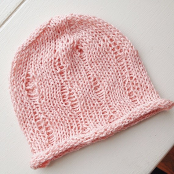 Knitting Pattern For Baby Summer Hats : Lightweight knit baby hat summer baby hat summer hat