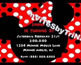 Minnie Mouse Birthday Invitation 2