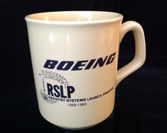 Vintage Boeing RSLP Coffee Mug Reentry Systems Launch Program 1969-1983