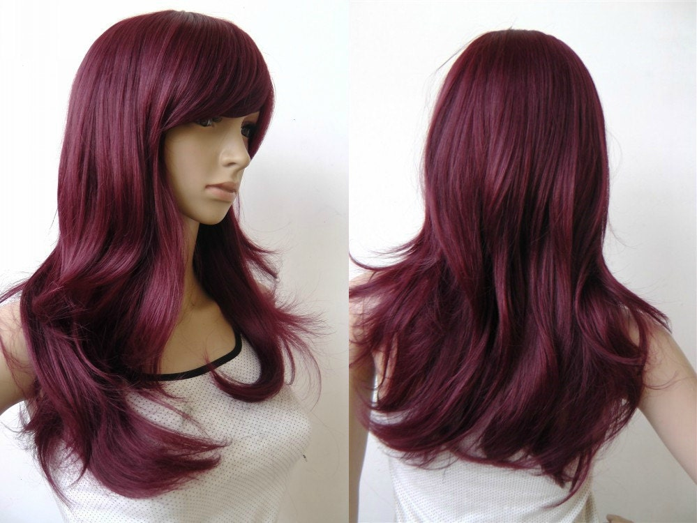 Burgundy Human Hair Wigs Curly Lace Front Wig&full Lace Wig