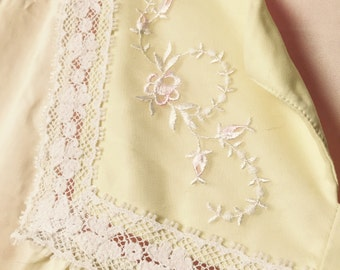 Buttercup yellow vintage nightgown
