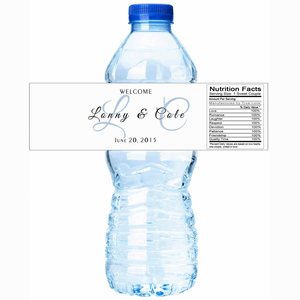 Wedding water bottle labels monogram water bottle labels for Mineral water label template