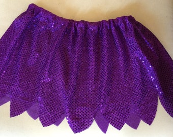 Fast Flying talent Fairy Purple Running/Skating/Athletic skirt costume Sequin