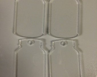 Clear Acrylic Mason Jar - Set of 10