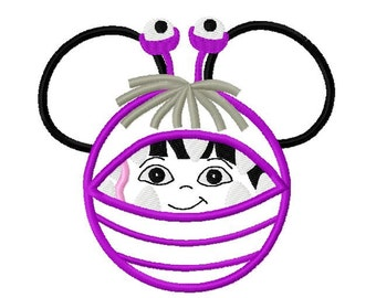 Character Inspired Boo Monster Embroidery Applique Design