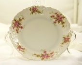 Vintate plate. China plate Limoges china floral plate Dessert plate