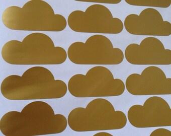 Vinyl Cloud Wall Decals - Nursery - Bedroom - Office - School