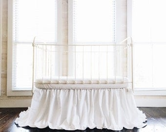 White Crib Skirt - White Ruffled Crib Skirt - Baby Girl Crib Skirt - Boy Crib Skirt - Ruffled Crib Skirt - Crib Skirt Girl - Crib Skirt Boy