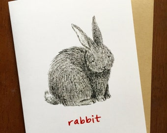 Rabbit Chinese Zodiac Card