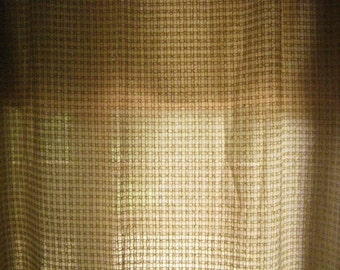 Wool+Synthetic Blend Sheer Fabric Remnant Beige - 3 YARDS