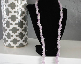 Beautiful Amethyst chip necklace