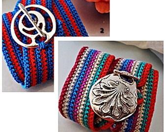 Boho Wrap bracelet/ Beach Bracelet/ Multicolor wrap bracelet