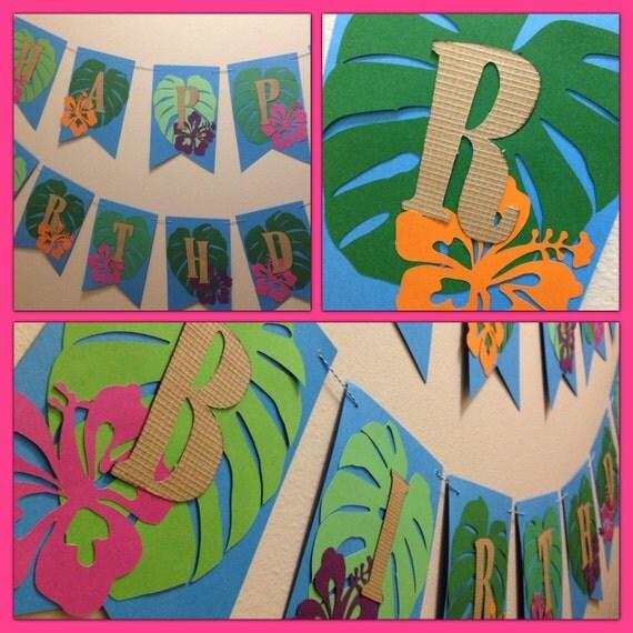 "Items Similar To Handmade Tropical, Luau Themed ""happy"