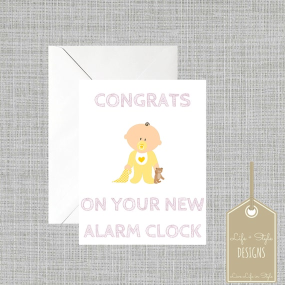 funny baby shower card funny new baby card gender neutral baby card