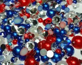 Rhinestone Pearl mix - Patriotic Flare