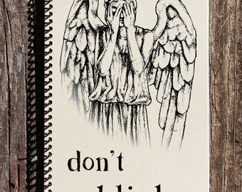 Doctor Who Journal - Doctor Who Notebook - Weeping Angel - Don't Blink - Weeping Angel Notebook - Don't Blink Notebook