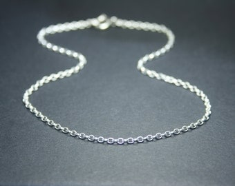 Sterling silver anklet, silver ankle bracelet, rolo chain anklet, figaro chain anklet, delicate anklet, summer jewelry, holiday jewelry