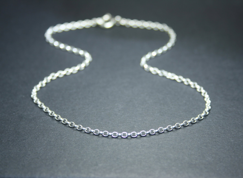 Sterling silver anklet silver ankle bracelet rolo by ...