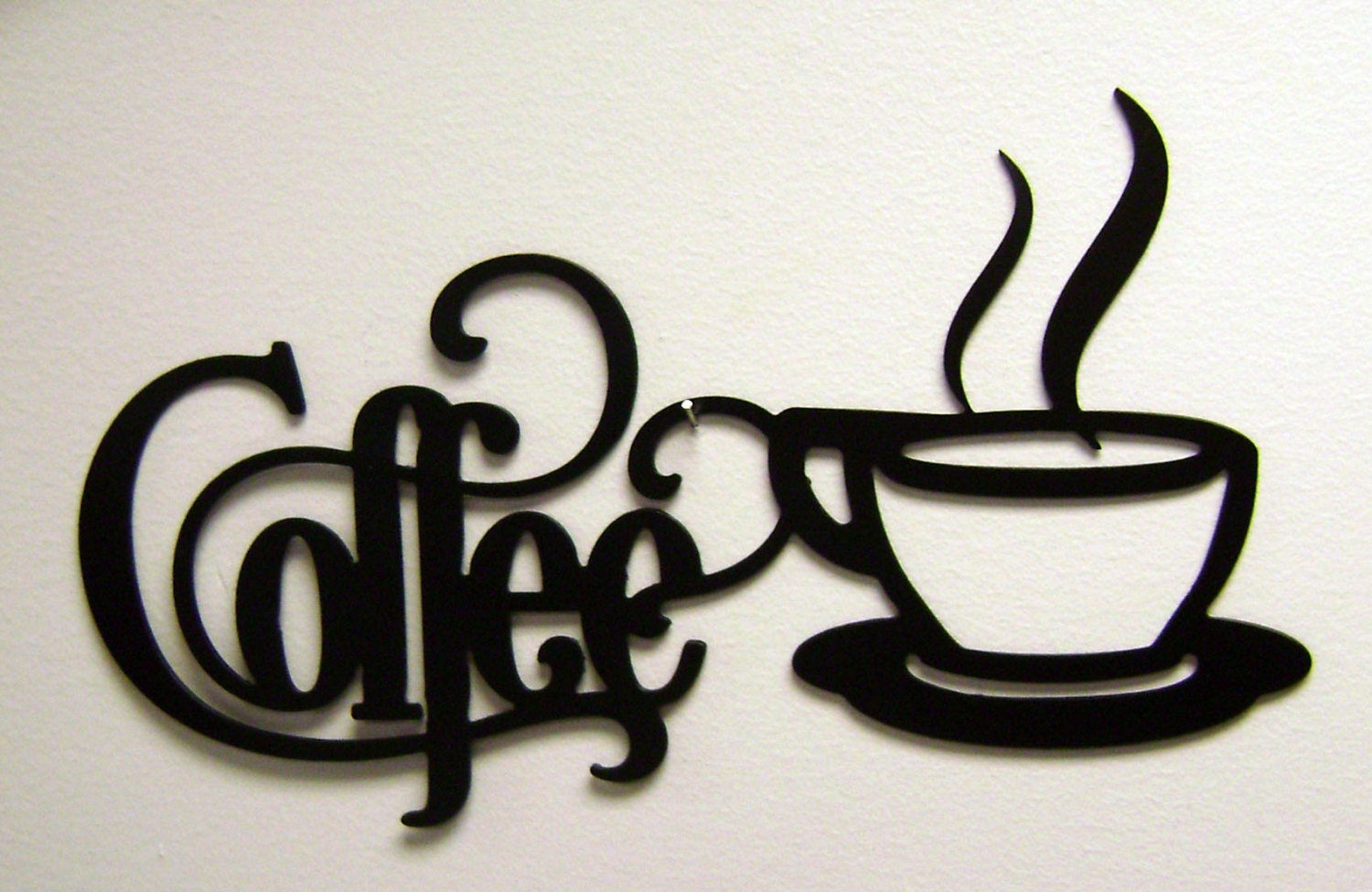 14 x 7 bistro coffee sign with mug metal wall zoom amipublicfo Image collections