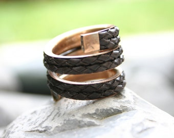 Mens ring, mens ring leather, mens ring braided, man rings, men rings, male ring, men's rings, mens ring braided, maxi ring