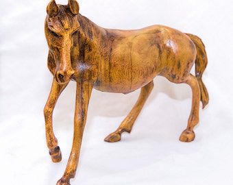 Wood Horse - Hand Carved