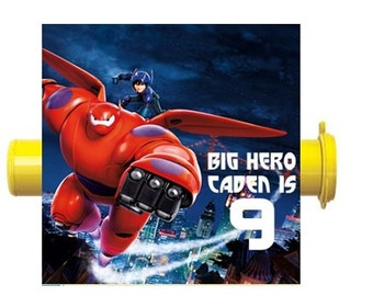 Big Hero 6 Candy Tube Labels Birthday Party Favors Custom Personalized ~ We Print & Ship To You