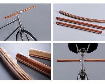 Wooden handlebar for bike by HolinDesign