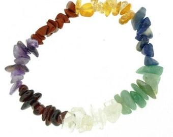 7 chakras 7 stones chips Beads Bracelet