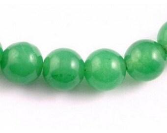 64 beads wire round 6mm 6 mm Green Aventurine