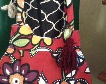 Bold Flowers shoulder bag