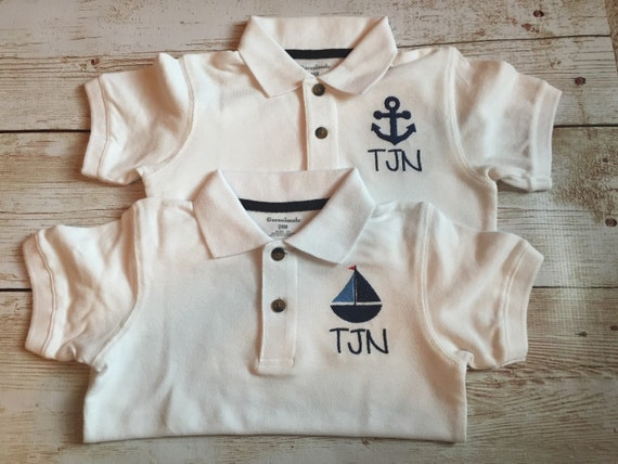 Sale custom monogrammed boys polo custom monogrammed for Personalized polo shirts for toddlers