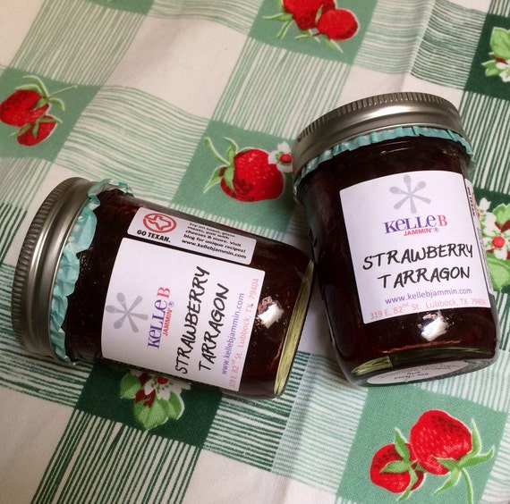 Strawberry Tarragon Jam by KelleBJammin on Etsy