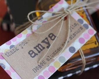 Customized Rustic Gift Tags/Personalized Name Tags/Customized Rustic Thank You Tags