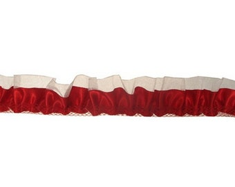 "1"" Organza and Satin Trim - (5 Yards) - Free Shipping!"