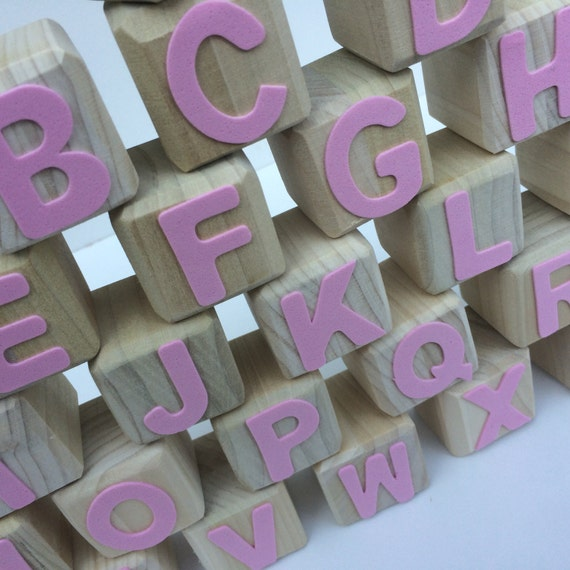 abc baby shower blocks boy wooden blocks wood blocks square abc