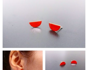 Enameled earrings