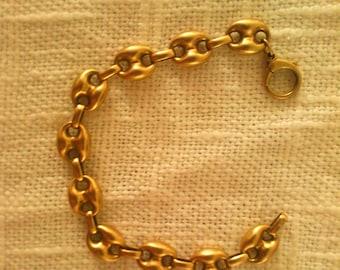 Bracelet gold 14 k 20G vintage, gold and jewelery