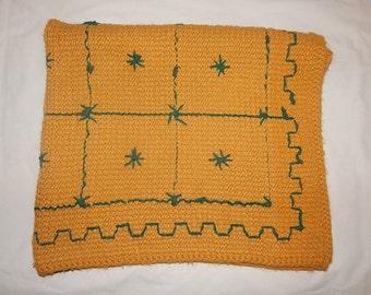 Vintage handknit afghan